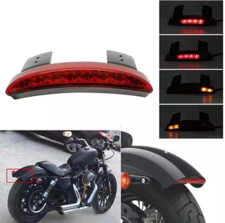 Calavera Stop Led Direccionales Harley Sportster Iron 883