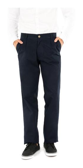 Pantalón Pinzado Gabardina - Verde O Azul Marino - Ba Jeans