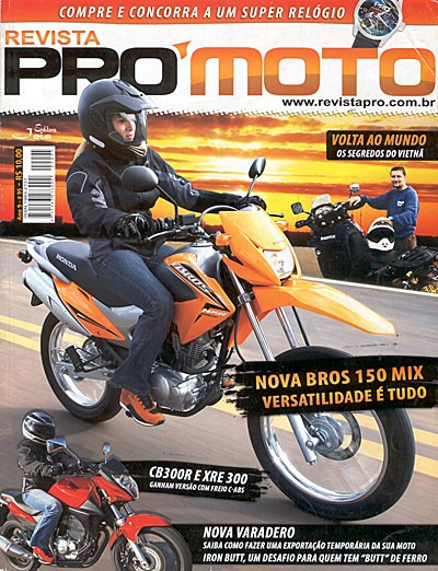 Pró Moto.095 Out-nov99- Bros150 Cb300 Xre Titan Varadero Fan