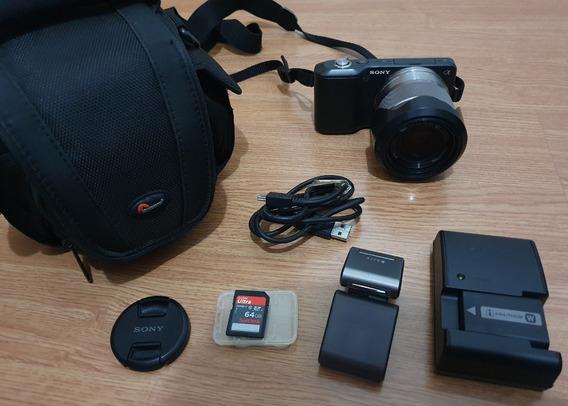 Câmera Sony Alpha Nex-3 + Cartão De 64gb E Acessorios