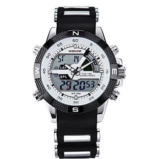 Weide Mens Digital Electrónico Impermeable Led Reloj Deporti