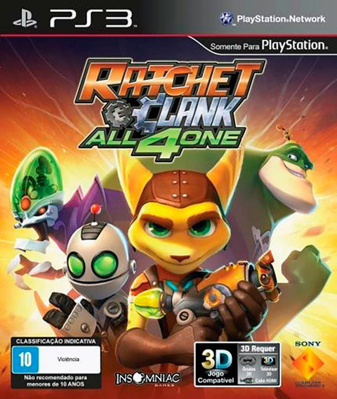 Ratchet & Clank All 4 One Ps3 Mídia Física Novo Lacrado