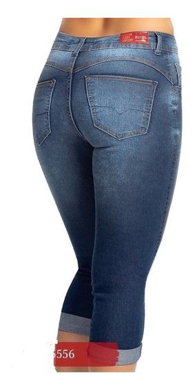 Calça Jeans Feminina Biotipo Capri Cintura Media Luxo Barata