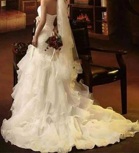 Vestido De Noiva Estilo Princesa, Na Cor Branco, Tm 40/42