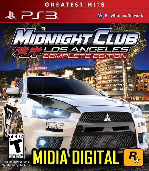 Midnight Club Los Angeles Edition Ps3 Jogo Corrida Carro Psn