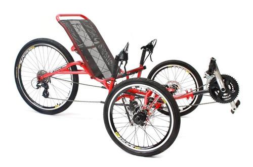 Imagem 1 de 6 de Triciclo Reclinado Full Suspension Art Trike 21v