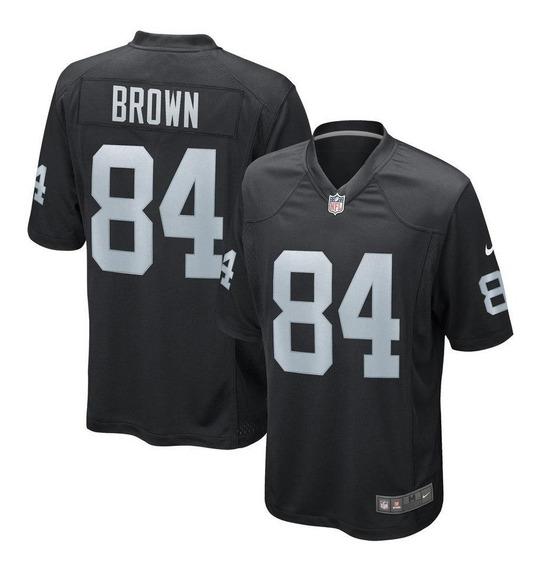 Jersey #84 Brown Raiders Version Aficionado Nueva! Nfl
