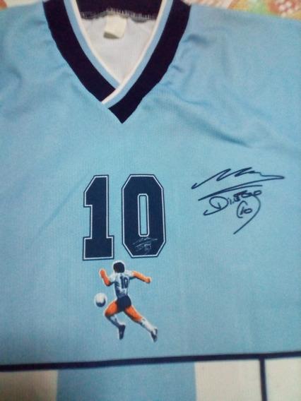 Camiseta Argentina Homenaje A Diego Maradona Talle2 Año 2001