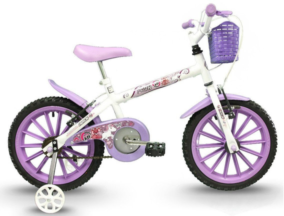 Bicicleta Track Pinky Infantil Aro 16