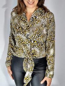 Camisa Roupa Blusa Onça Feminina Outono Inverno 2