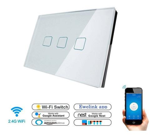 Interruptor Wifi Inteligente 3 Ch Control Luz Desde Celular
