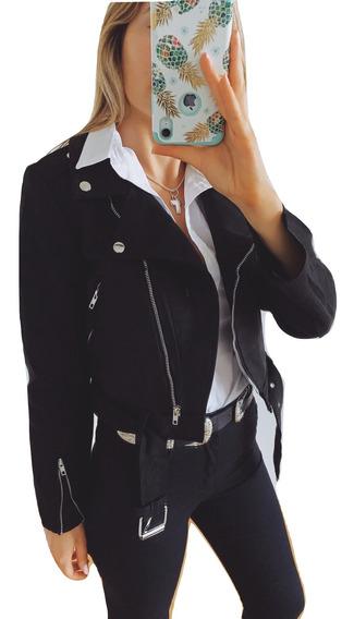 Camperas De Cuero Mujer Importada Rockera Moto Canchera Premium Negra Blanca +colores Talles