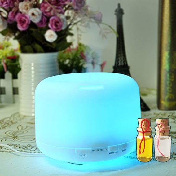 Humidificador Difusor De Aromas 500ml + 2 Aceites Esencial