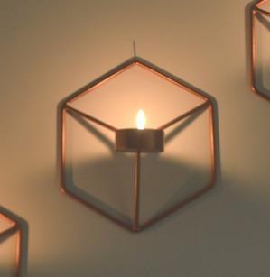 Lanterna Suporte Geométrico Para Vela Varias Cores