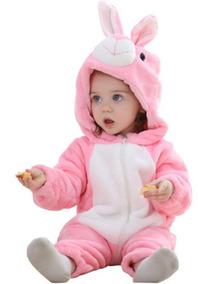 Macacão Pijama Bebê Fantasia Coelhinha Infantil