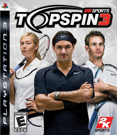 Jogo Top Spin 3 Playstation 3 Ps3 Tenis Game Midia Fisica