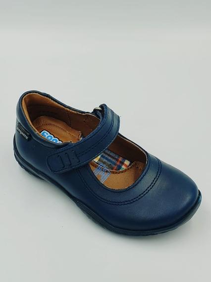 Zapato Escolar Coqueta Azul Marino