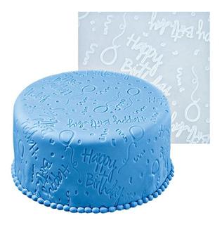 Tapete Silicon Texturizador Wilton Happy Birthday