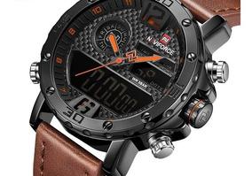 Relógio Masculino Naviforce Nf9134 Original Couro