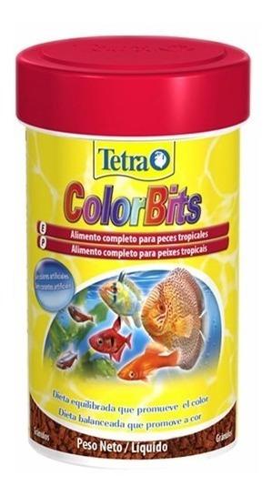 Ração Para Peixes Tetra Color Bits Gránulos 300g Discus