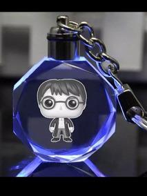 Chaveiro Harry Potter Com Led Azul Mod. Harry,dobby.pelucio