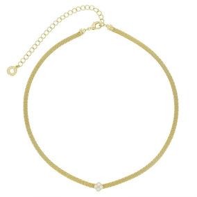Morana | Colar Choker Dourado Banho Em Ouro