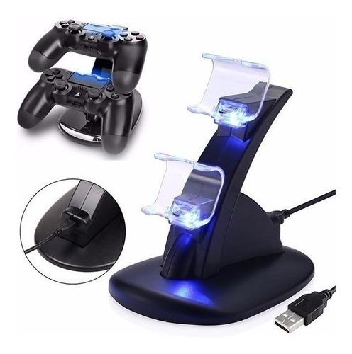 Base Doble Dock Cargador Joystick Para Playstation 4 Ps4 Ax®