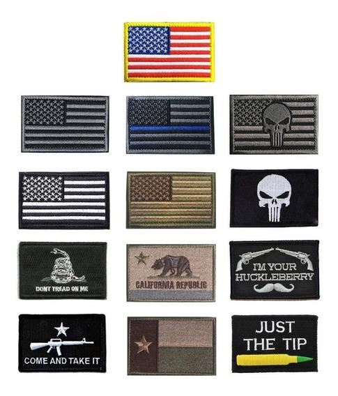 Pack De 11 Parches Militares Bordados Americanos Importados