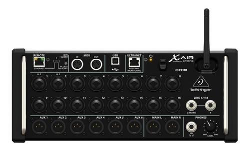 Mesa Som Xr18air Xr18 Air Mixer Digital 18 Canais Behringer