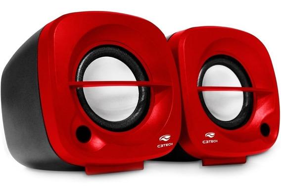 Caixa De Som Speaker 2.0 Sp-303rd C3tech 3w Rms P/ Pc E Note