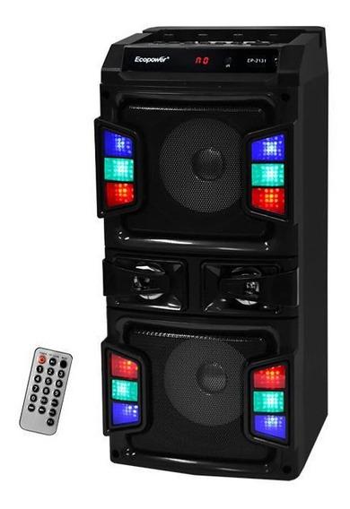 Caixa De Som Portatil Bluetooth Usb Ecopower Ep-2131