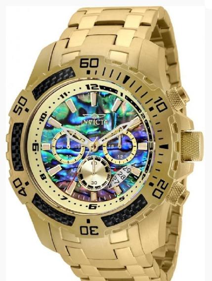 Relógio Masculino Invicta 25094 Banhado Ouro 18k Original