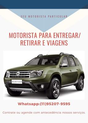 Motorista Particular-viagens, Retirada E Entrega-são Paulo