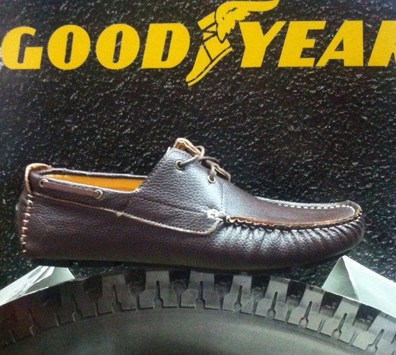 Mocasín Goodyear De Cuero Flexibles Un Guante Local Centro
