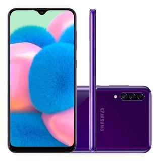 Smartphone Samsung Galaxy A30s 64gb Câmera Tripla Violeta