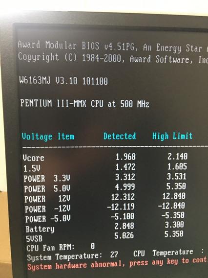 Placa Msi + Processador Piii 500 + 64mb P3 Pentium 3