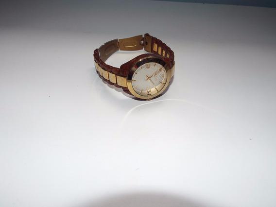 Relógio Euro Feminino Dourado Com Defeito