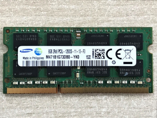 Imagem 1 de 4 de Memória Ram Samsung 8gb - 2rx8 -pc3l- M471b1g73db0-yk0