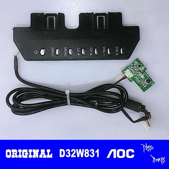 Teclado + Sensor Remoto Tv Aoc D32w831