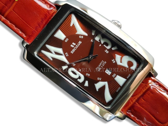 Relógio Masculino Seculus 44761505lb Swiss Made Calendário