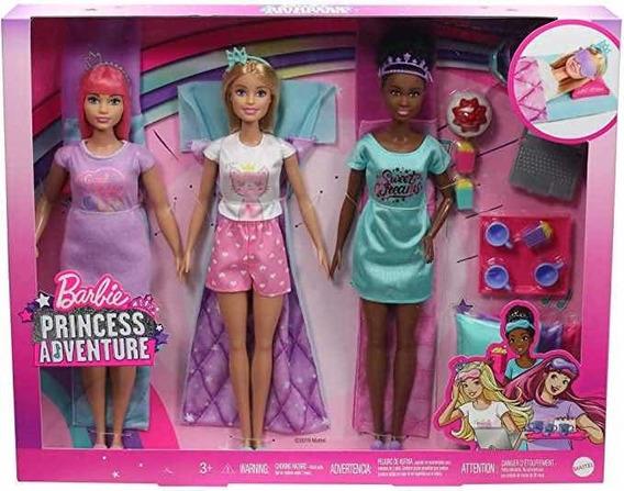 Barbie Princess Adventure Festa Do Pijama Com Amigas Mattel