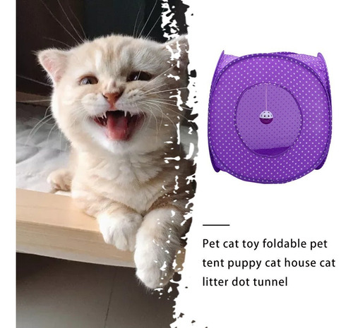 Ccgdgft Juego AMZ Plegable for Mascotas t/únel Plegable Tubos Campana de capacitaci/ón for peque/ñas Mascotas Juguetes de Tela Oxford t/únel