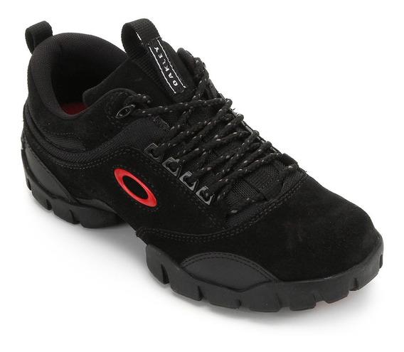 Tênis Couro Oakley Modoc Low 3.0 Masculino - Preto/vermelho
