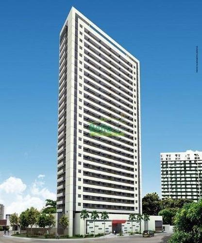 Apartamento Com 1 Dormitório À Venda, 31 M² Por R$ 285.000,00 - Soledade - Recife/pe - Ap1411
