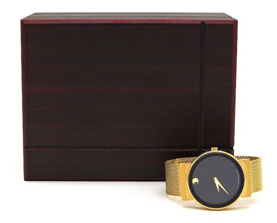Relógio Movado Stainless Steel Dourado