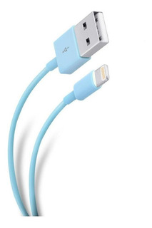 Cable Ultra Delgado Usb A Lightning Color Azul | Pod-400caz