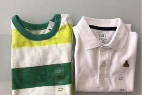 Kit Camiseta Infantil Gap 12 / 18 Meses Menino Original