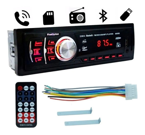 Imagem 1 de 4 de Mp3 Player Som Carro Automotivo Bluetooth Pendrive Sd Rádio