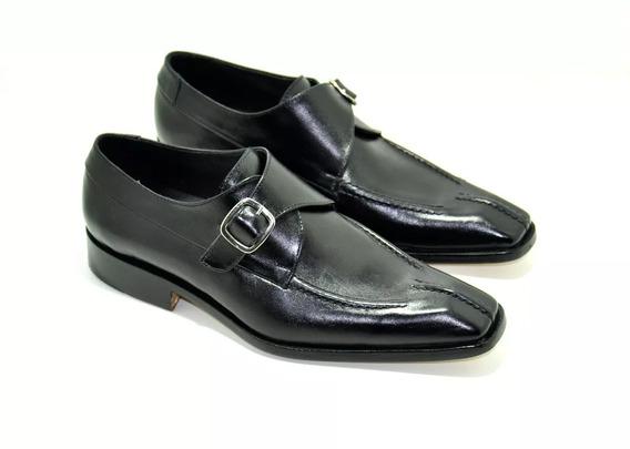 Calzado Zapato De Cuero Con Hebilla Art. 8005