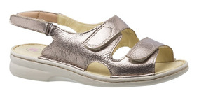Sandália Feminina 295 Em Couro Metalic Doctor Shoes